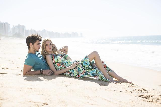 zamilovaní na pláži