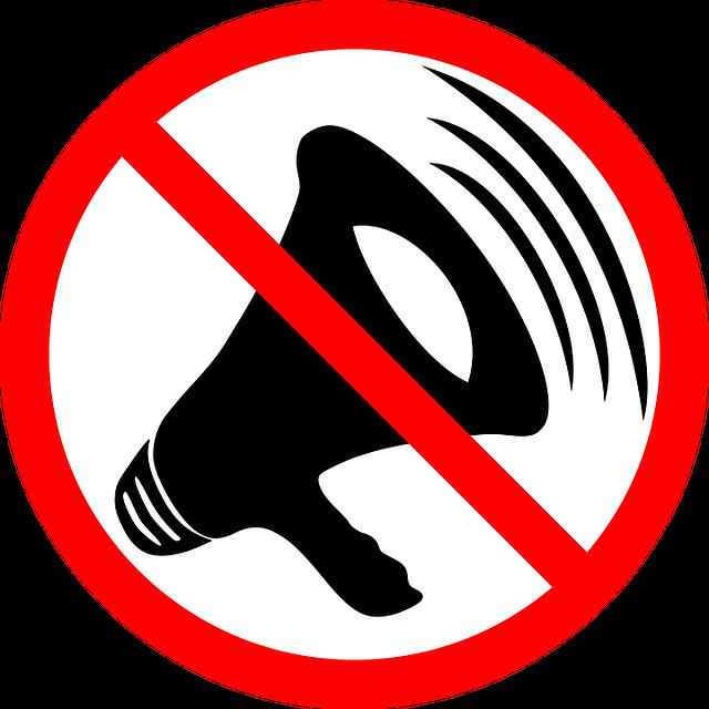 zákaz zvuku