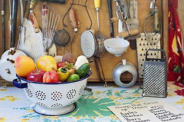 retro kuchyňské potřeby